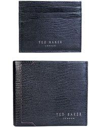 46ff868f4def25 Ted Baker - Wallet Gift Set With Cardholder Da7m Gg61 Gekko Men s Purse  Wallet In Black