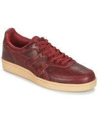 Onitsuka Tiger - Gsm Leather Men's Shoes (trainers) In Red - Lyst