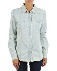 Billabong - Fine 4 N Dandy Women's Shirt In Blue - Lyst