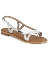 Les Tropéziennes Par M Belarbi - Isatis Women's Sandals In White - Lyst