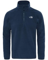 The North Face - 100 Glacier 14 Zip Men's Jumper In Multicolour - Lyst