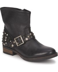 Pieces - Isadora Leather Boot Women's Mid Boots In Black - Lyst