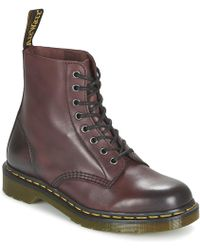 Dr. Martens - Pascal Men's Mid Boots In Red - Lyst