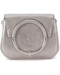 Furla - Margherita Mini Shoulder Bag In Silver Metal Leather With Metal  Women s Shoulder Bag In e97d9d18dec43