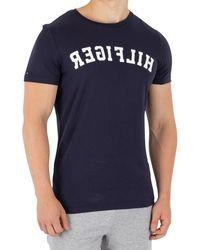 Tommy Hilfiger - Men's Arched Logo T-shirt, Blue Men's T Shirt In Blue - Lyst