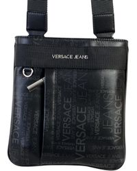 Versace - Sacoche Linea Logo All Over Dis 3 hommes Sacoche en Noir - Lyst d5650deccc9b