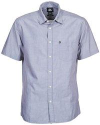Quiksilver - Everyday Stripe Ss Men's Short Sleeved Shirt In Blue - Lyst