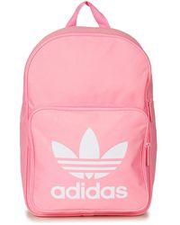 adidas - Bp Clas Trefoil Men s Backpack In Pink - Lyst 68387dd48d344
