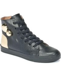 Love Moschino - Ja15213g04 Women's Shoes (high-top Trainers) In Black - Lyst