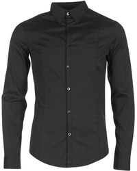 Armani Jeans - Quenot Men's Long Sleeved Shirt In Black - Lyst