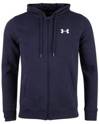 Under Armour - Rival Fitted Full Zip Men's Sweatshirt In Multicolour - Lyst