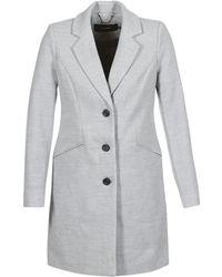 Vero Moda - Vmcindy Women's Coat In Grey - Lyst