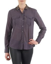 S.oliver - Chemister Manches Lo Women's Shirt In Grey - Lyst