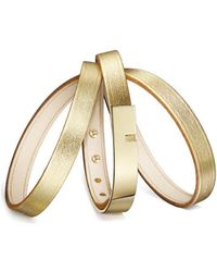 Ursul - Bracelet U-turn Triple Gold Lamb Gold Woman Autumn/winter Colle Women's Bracelet In Gold - Lyst