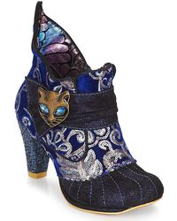 Irregular Choice - Miaow Women's Low Ankle Boots In Blue - Lyst