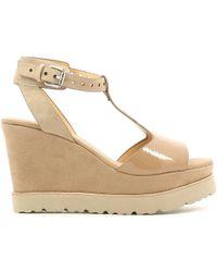 Luca Stefani - 351506 Wedge Sandals Women Nd Women's Sandals In Brown - Lyst