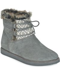 Roxy | Tara J Boot Chr Women's Mid Boots In Grey | Lyst
