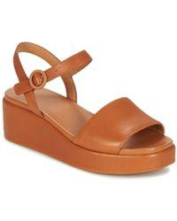 Camper - Misia Women's Sandals In Brown - Lyst