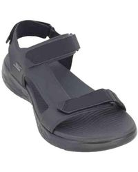 762b4216ef58 Skechers - On The Go 600 Venture 55366 Men s Sandals Men s Sandals In Black  - Lyst