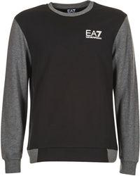 EA7 - Train Tritonal M T-top Men's Sweatshirt In Black - Lyst