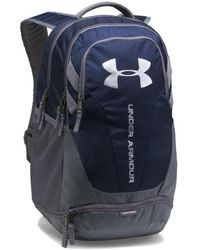 Under Armour - Hustle 3.0 Backpack - Midnight Navy / Graphite / Silver Men's Backpack In Grey - Lyst