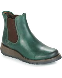 Fly London - Salv Women's Mid Boots In Green - Lyst
