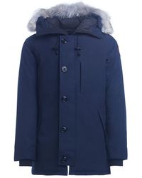 Canada Goose - Chateau Blue Parka With Hood Men's Jacket In Blue - Lyst