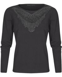 Mado Et Les Autres - Fancy Jumper At The Neckline 18hpul102_gr068 Anthracite Woman Women's Sweatshirt In Grey - Lyst