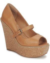 Shellys London - Skyscraper Women's Court Shoes In Brown - Lyst