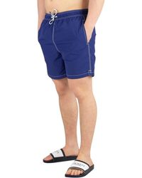 9f387c0b0c Hackett - Men's Solid Volley Swimshorts, Blue Men's Shorts In Blue - Lyst