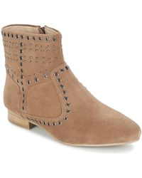 French Connection - Charlene Women's Mid Boots In Brown - Lyst