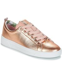 164f81991ffb0 Ted Baker - Kellei Women s Shoes (trainers) In Gold - Lyst