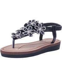 SPYLOVEBUY - Thumbs Women's Sandals In Black - Lyst