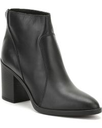 TOWER London - Womens Black Skin Leather Ankle Boots Women's Low Ankle Boots In Black - Lyst