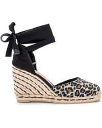 878d689f743 UGG Fitchie Wedge Sandal In Black Leather And Rafia Women's Sandals ...