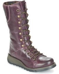 Fly London - Ster Women's High Boots In Purple - Lyst