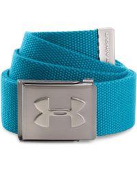Under Armour - Webbing Belt - Bayou Blue Men's Belt In Blue - Lyst