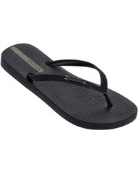 350c73584e0156 Ipanema - Sparkle Flip Flops In Black 81515 Women s Flip Flops   Sandals ( shoes)