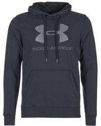 Under Armour - Rival Fellec Hoody Men's Sweatshirt In Black - Lyst