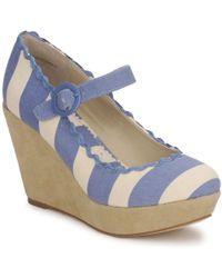 Shellys London | Frankie Women's Court Shoes In Blue | Lyst