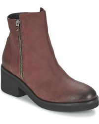Vic Matié - Ascille Women's Mid Boots In Red - Lyst