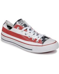 Converse - Chuck Taylor All Star Print Ox Women's Shoes (trainers) In White - Lyst
