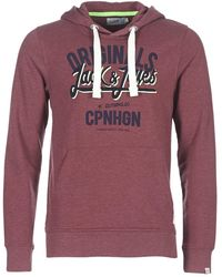 Jack & Jones - JORCATALINA hommes Sweat-shirt en rouge - Lyst