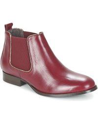 Betty London - Foloie Women's Mid Boots In Red - Lyst
