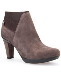 Geox - D Inspiration Women's Low Ankle Boots In Brown - Lyst