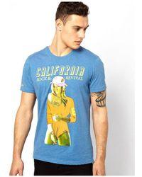 Rock Revival - Rock Revival - Mens California Girl T-shirt Men's T Shirt In Blue - Lyst