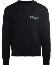 KENZO - Grey Anthracite Roundneck Jumper Men's Sweater In Grey - Lyst