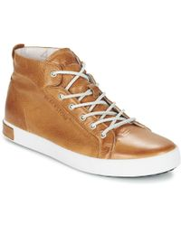 Blackstone - Jm03 Men's Shoes (high-top Trainers) In Brown - Lyst