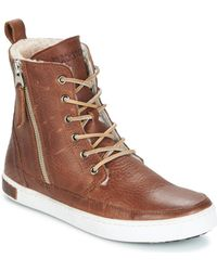 Blackstone - Laos Town Women's Shoes (high-top Trainers) In Brown - Lyst