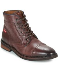 Levi's - Levis Wohlford Men's Mid Boots In Brown - Lyst